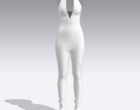 JUMPSUIT WHITE 3D