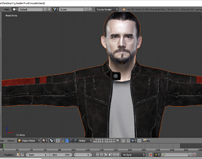 animated game-ready CM Punk 3d model