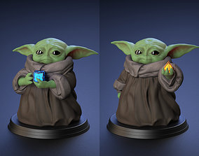 3D printable model Baby Yoda - With Cube and Sith 3