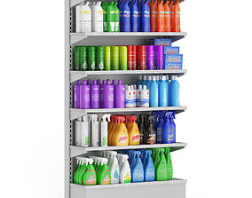 Market Shelf Cleaning Products 3D