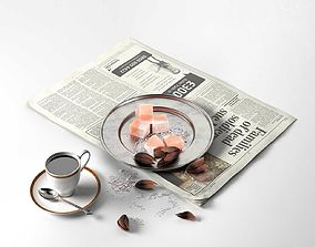 3D Coffee and the Newspaper