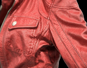 3D asset Red Leather Jacket