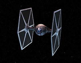 3D asset game-ready Tie Fighter