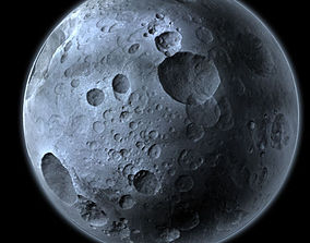 3D model Highly Detailed Planet or Moon with Big Craters