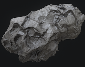 collision Meteor Asteroid Rock 4K 3D model