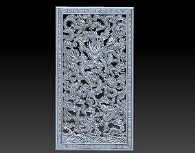 bas-relief 3D Nine dragons