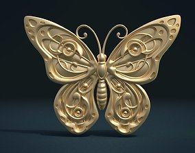 3D printable model Butterfly Relief