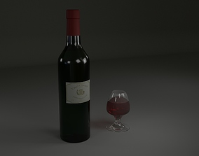 3D Red wine