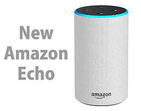 New Amazon Echo 2018 Sandstone Fabric 3D