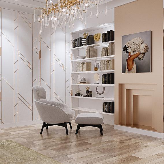 Luxury living room interior by 3DAG