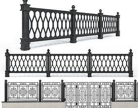 Wrought iron fences - Set 1 3D