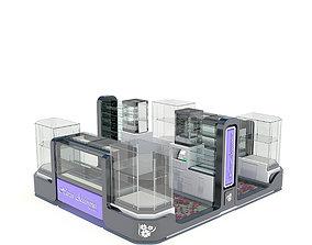 Jewelry Kiosk 3D model