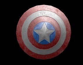 Captain America Shield 3D model VR / AR ready