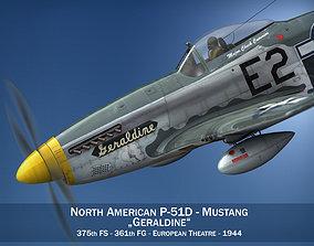 3D model North American P-51D Mustang - Geraldine