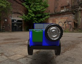 Old jeep 3D asset VR / AR ready
