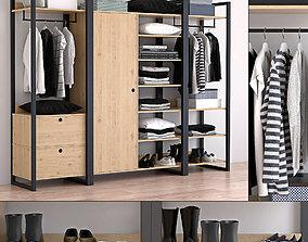 3D model wardrobe woodmood