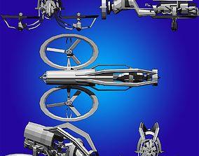 Propeller futuristic motorcycle 3D asset
