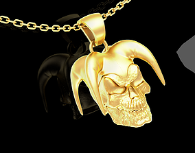 3D printable model Jester skull Sculpture pendant 2