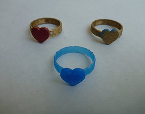 Heart Ring rings 3D print model