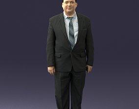 Fat man in suit 0521 3D