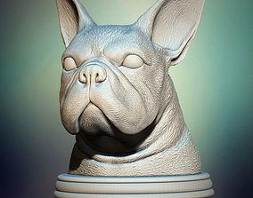3D print model French Bulldog Bust
