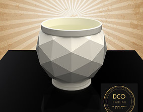 Decorative Triangulated Container Pot for 3D print model