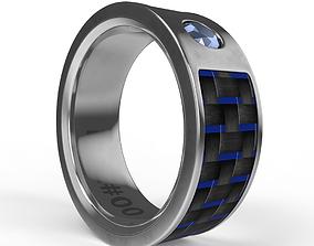 NFC RFID Wearable Smart Ring 3D model
