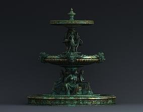 3D fountain Bronze statue