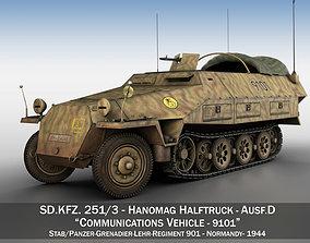 3D SDKFZ 251 Ausf D - Half-track - 9101