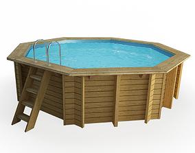 3D Wooden Swimming Pool Hexagonal