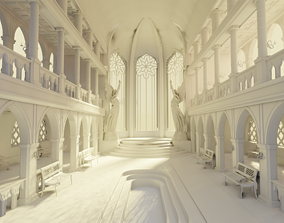 3D model medieval palace