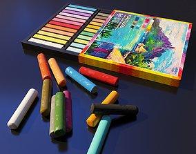 3D model Artist Studio Pastels Set 190 11