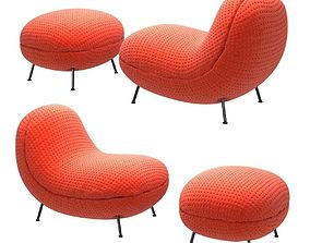ba baba pouf fabric chair by jot jot 3d model