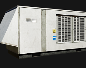 3D asset Rooftop packaged air-conditioning and heating 1