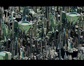 Stylized Futuristic Buildings 3D