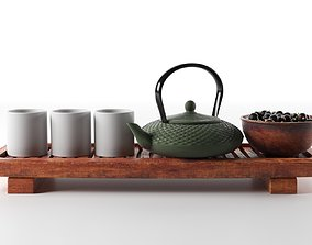 3D model Tea Set with Blackberry