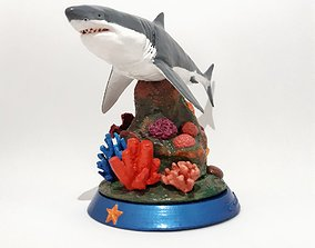3D printable model Coral Reef Great White Shark