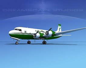 Douglas DC-6 Air Atlantique 3D model