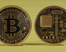 symbol Bitcoin 3d