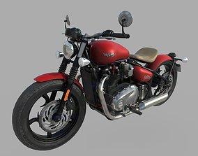 3D asset Triumph Bonneville Bobber 2017