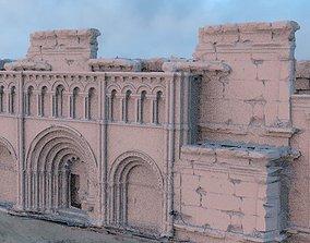 Fantasy architecture entrance 3D