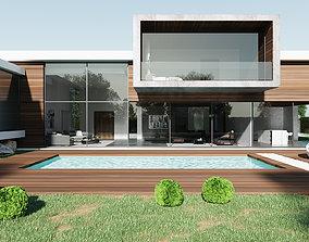 EXTERIOR MODERN HOUSE 3D exterior