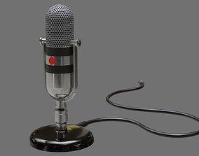 Retro Microphone 1A 3D asset