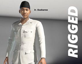 soekarno rigged 3D Soekarno
