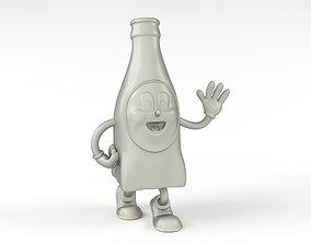 Nuka Cola Bottle Mascot 3D printable model