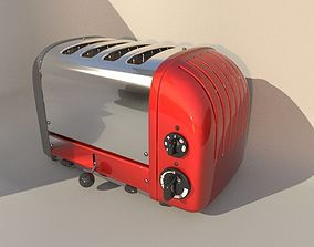 stainless toaster 3D model