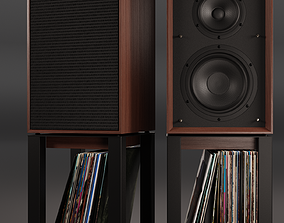 3D Wharfedale LINTON Heritage Loudspeaker and Stands with
