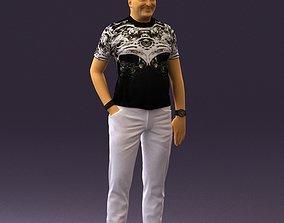 3D Funny bald man 0452