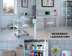 Research Laboratory Interior 3D model