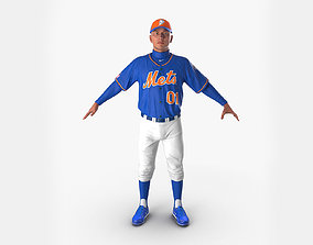 Baseball Player Mets 2 3D